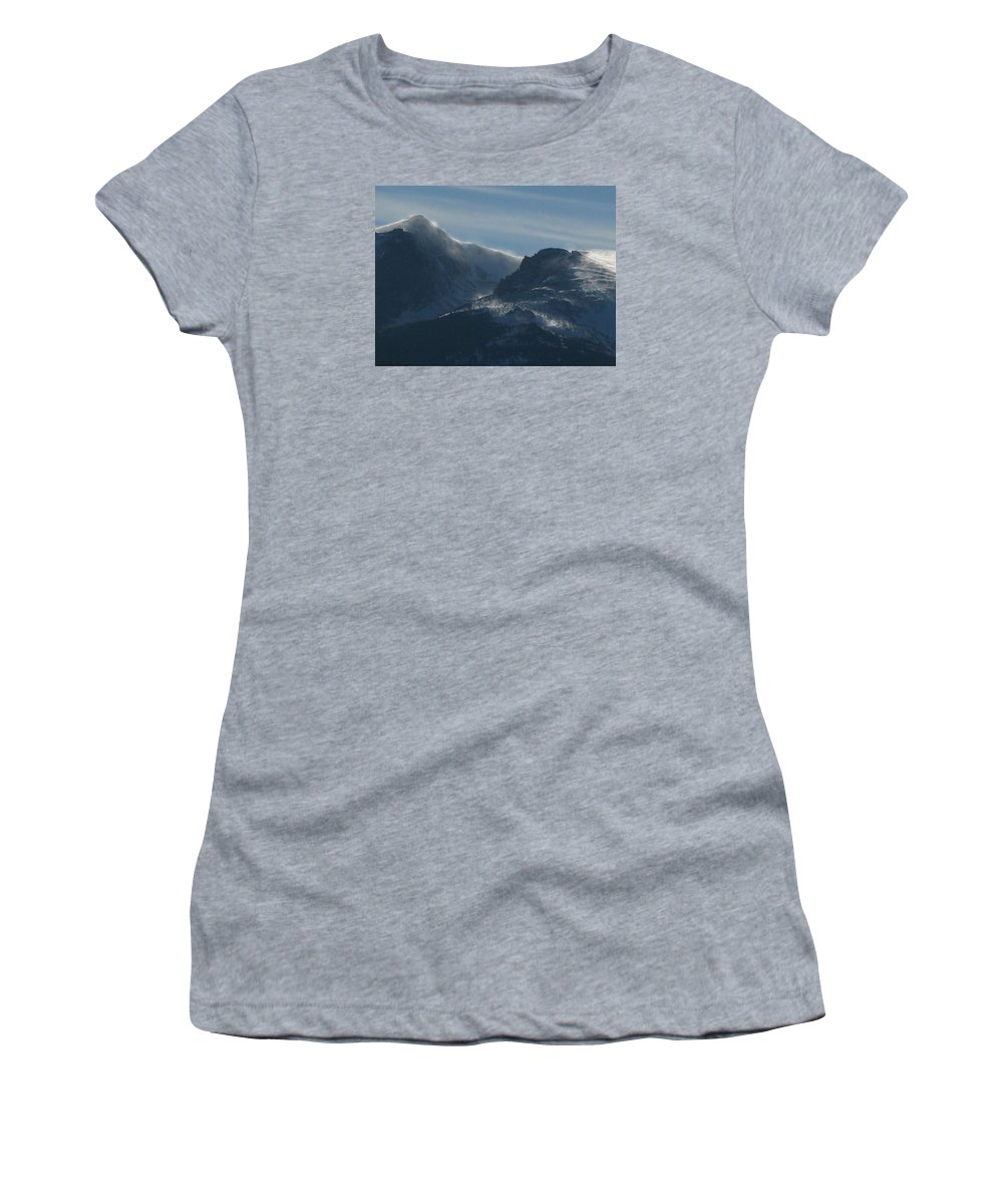 Rockies Women's T-Shirt (Athletic Fit) featuring the photograph Rocky Mts Mtn M 202 by Sierra Dall