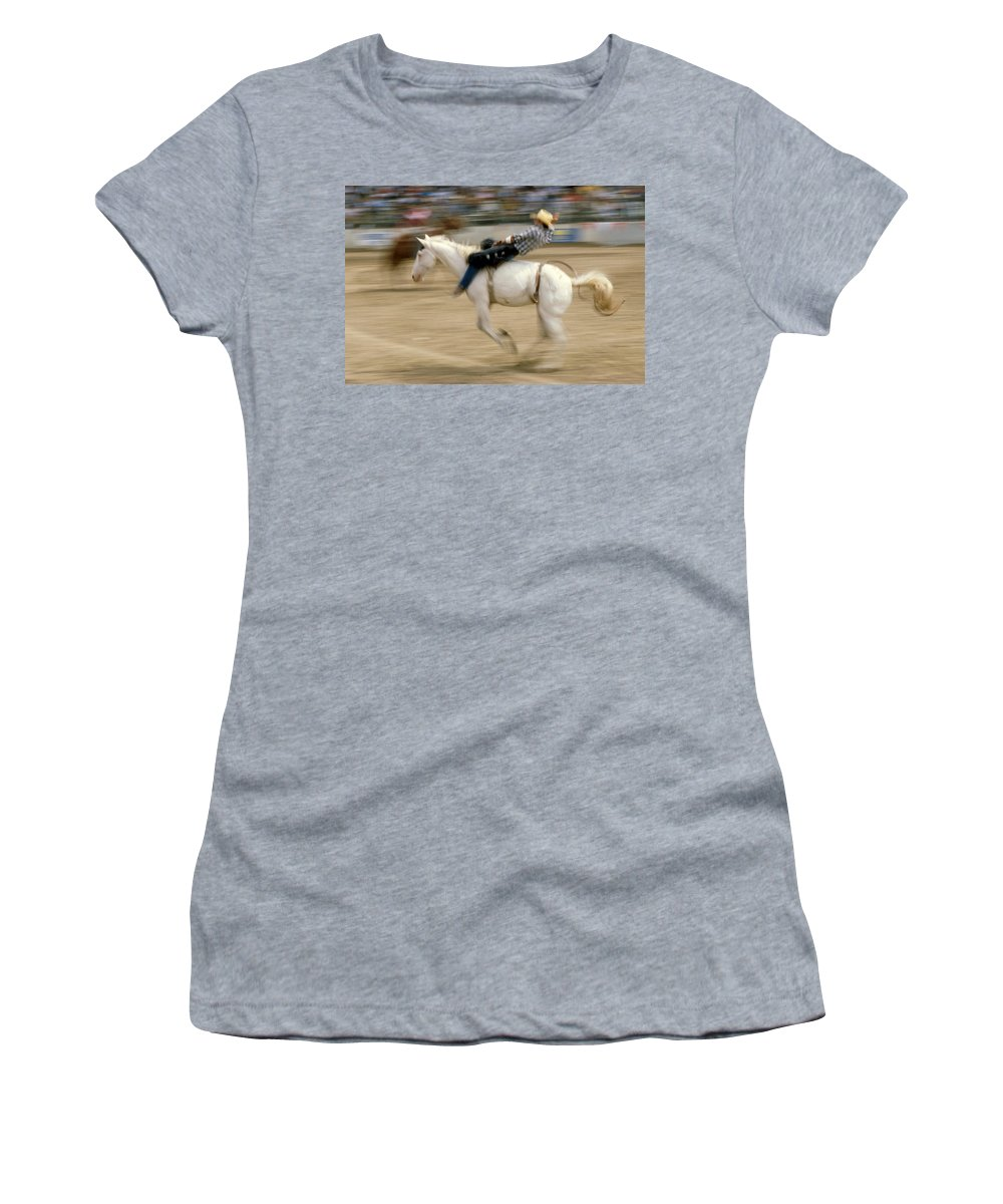 Rodeo Women's T-Shirt (Athletic Fit) featuring the photograph Rodeo by Jerry McElroy
