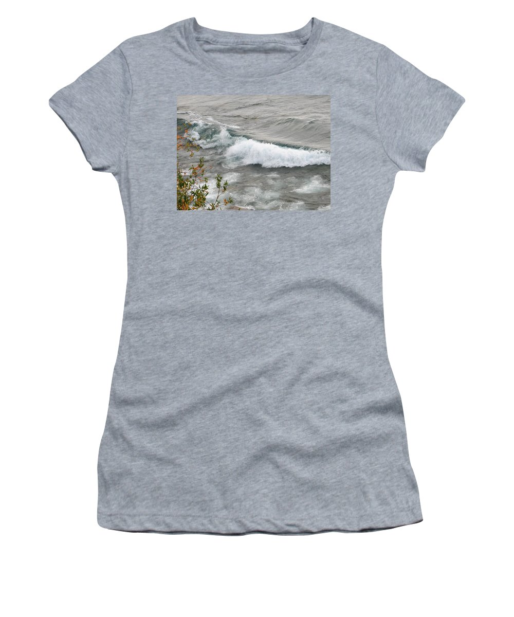 Wave Women's T-Shirt (Athletic Fit) featuring the photograph Rolling by Kelly Mezzapelle