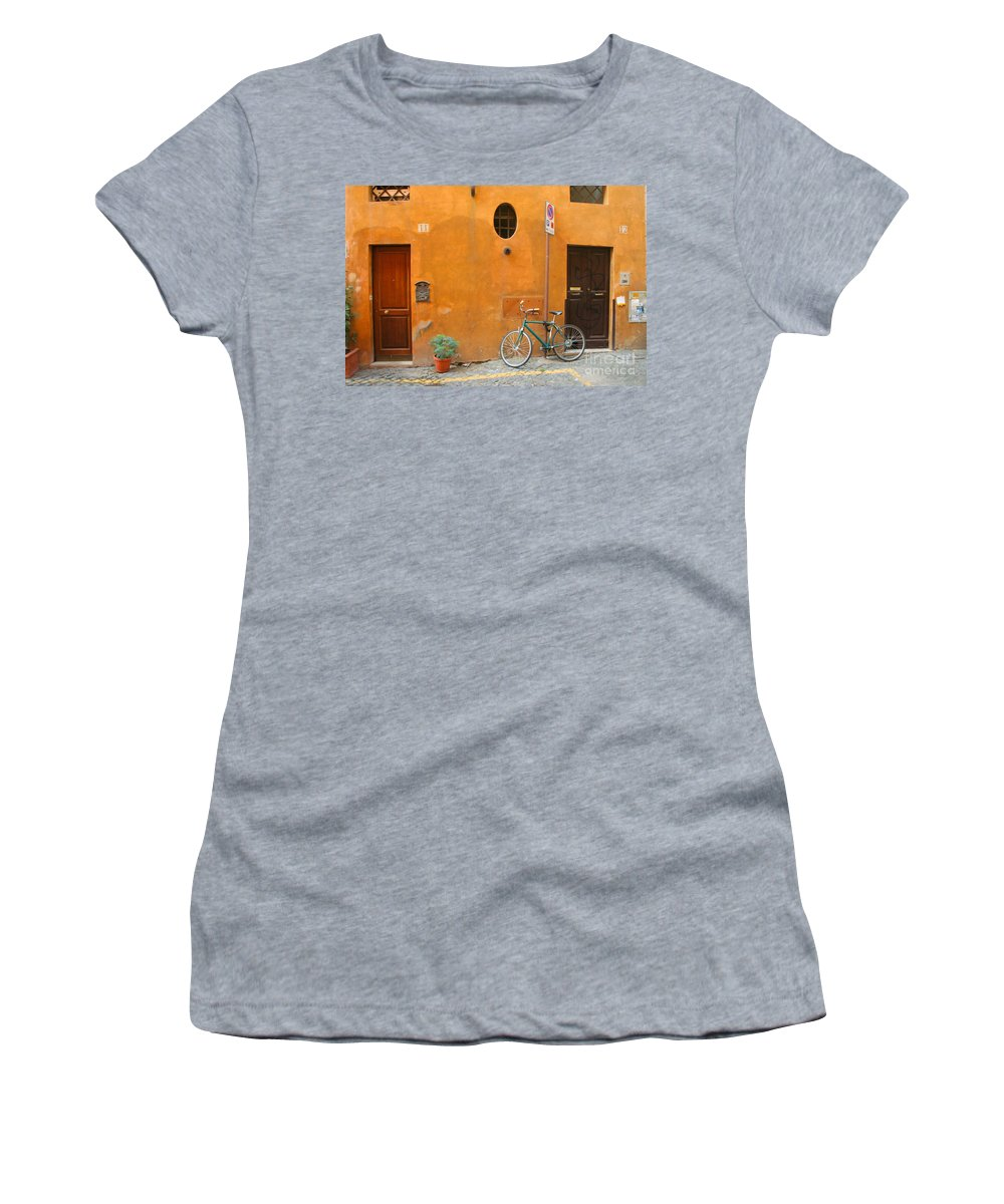 Rome Women's T-Shirt featuring the photograph Roman Doors by Thomas Marchessault