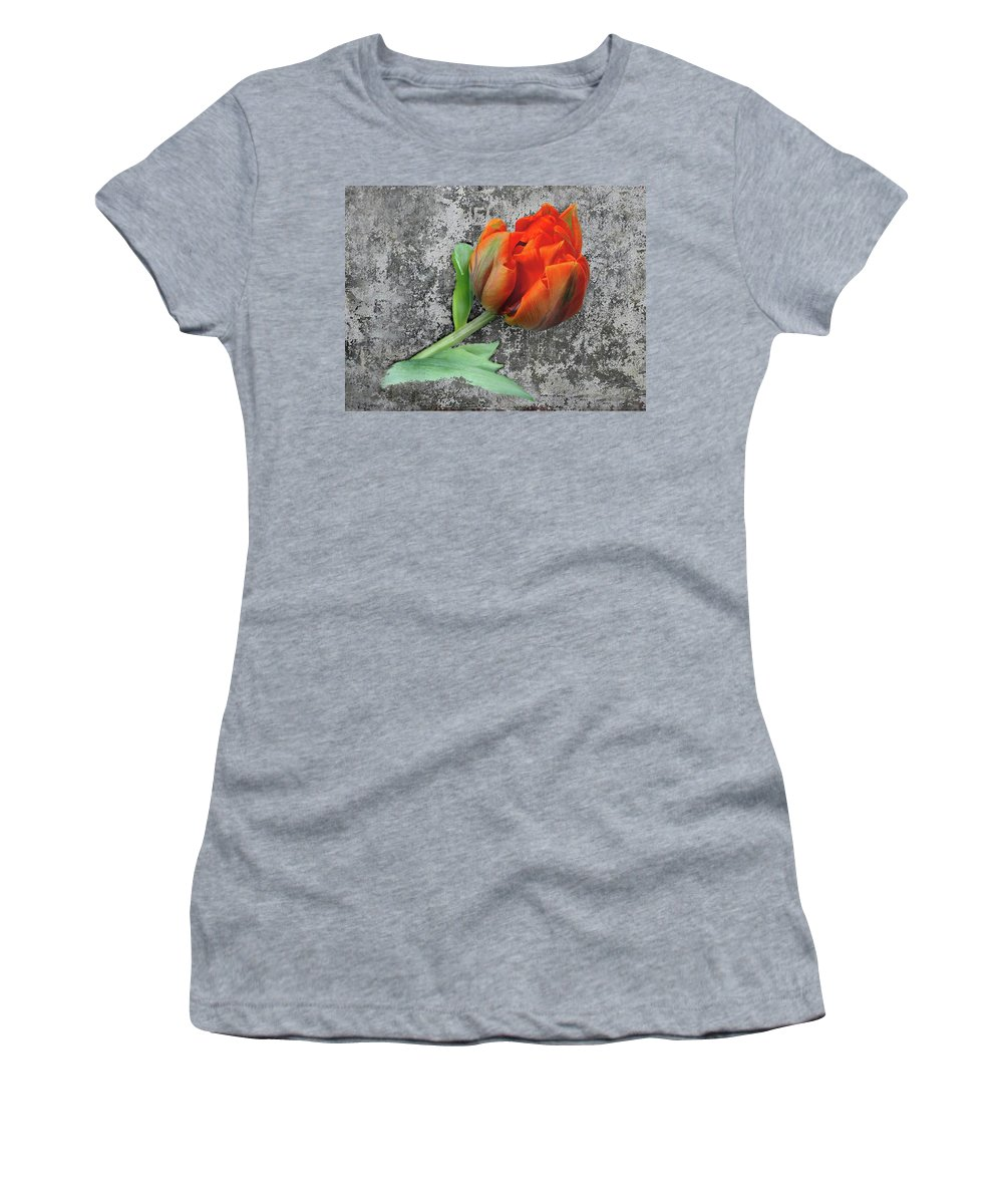 Romantic Women's T-Shirt (Athletic Fit) featuring the photograph Romantic Tulip by Manfred Lutzius