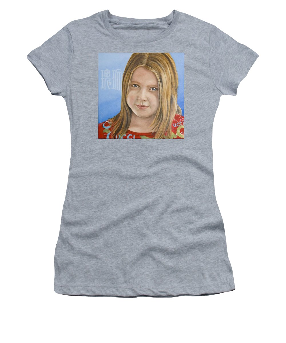 Portrait Women's T-Shirt (Athletic Fit) featuring the painting Roos by Rob De Vries