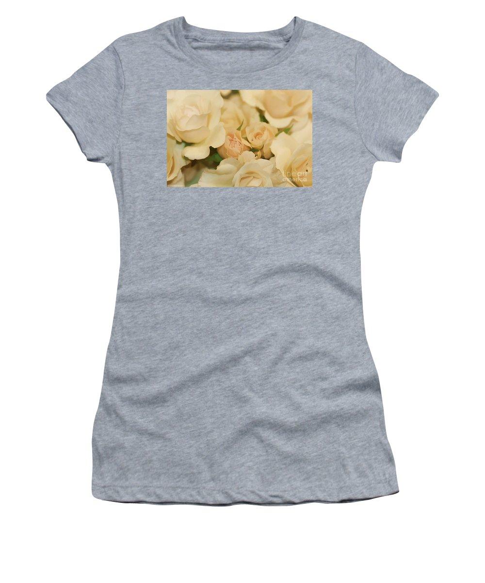 White Women's T-Shirt featuring the photograph Rose Bouquet by Deborah Benoit