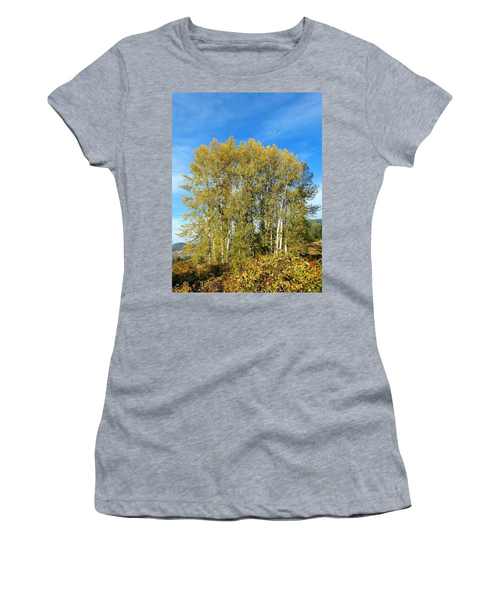 #rosehipsandcottonwoods Women's T-Shirt (Athletic Fit) featuring the photograph Rosehips And Cottonwoods by Will Borden