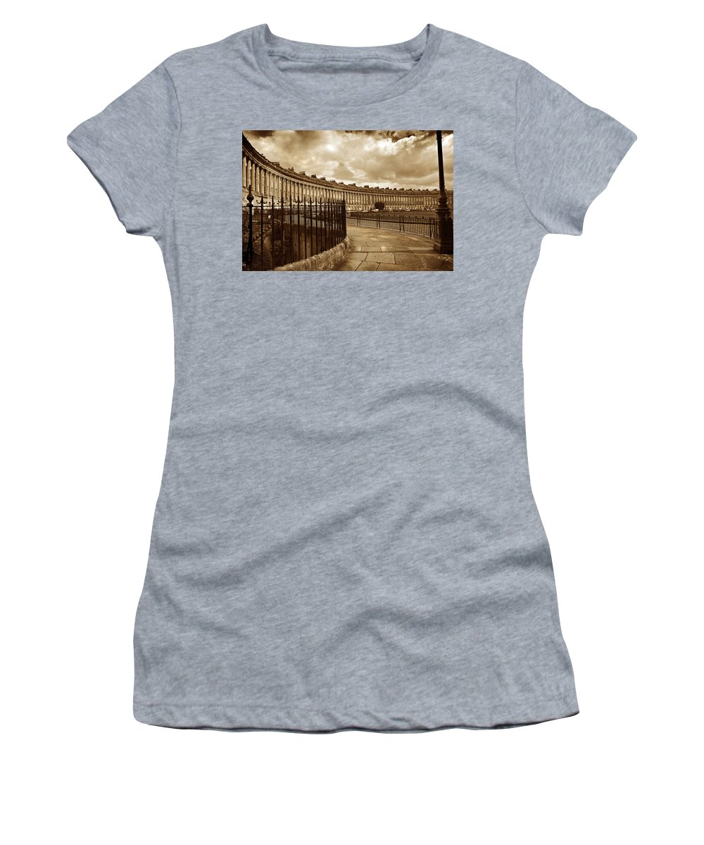 Bath Women's T-Shirt (Athletic Fit) featuring the photograph Royal Crescent Bath Somerset England Uk by Mal Bray