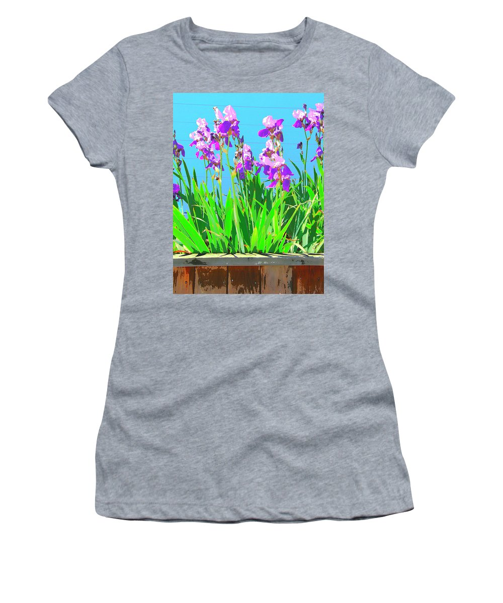 Royal Purple Women's T-Shirt (Athletic Fit) featuring the mixed media Royal Purple by Dominic Piperata
