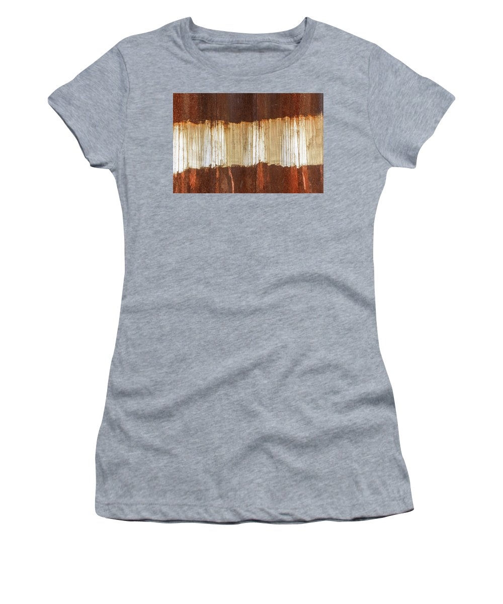 Abstract Women's T-Shirt featuring the photograph Rust 04 by Richard Nixon