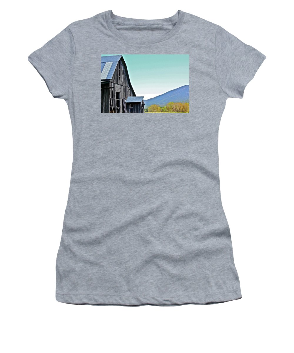 Barn Women's T-Shirt featuring the photograph Rustic Barn by Diana Hatcher