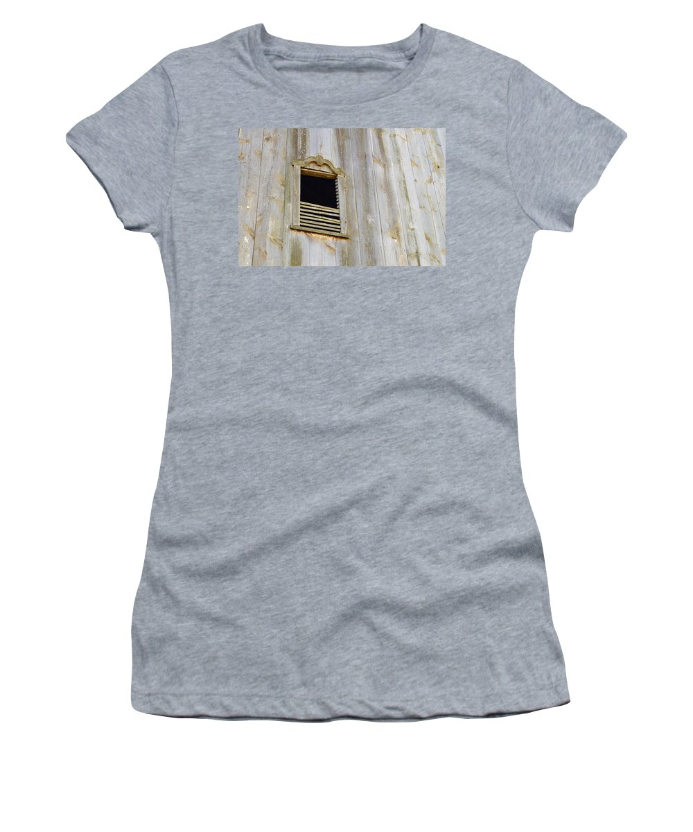 Abandoned Women's T-Shirt (Athletic Fit) featuring the photograph Rustic by Beth Collins