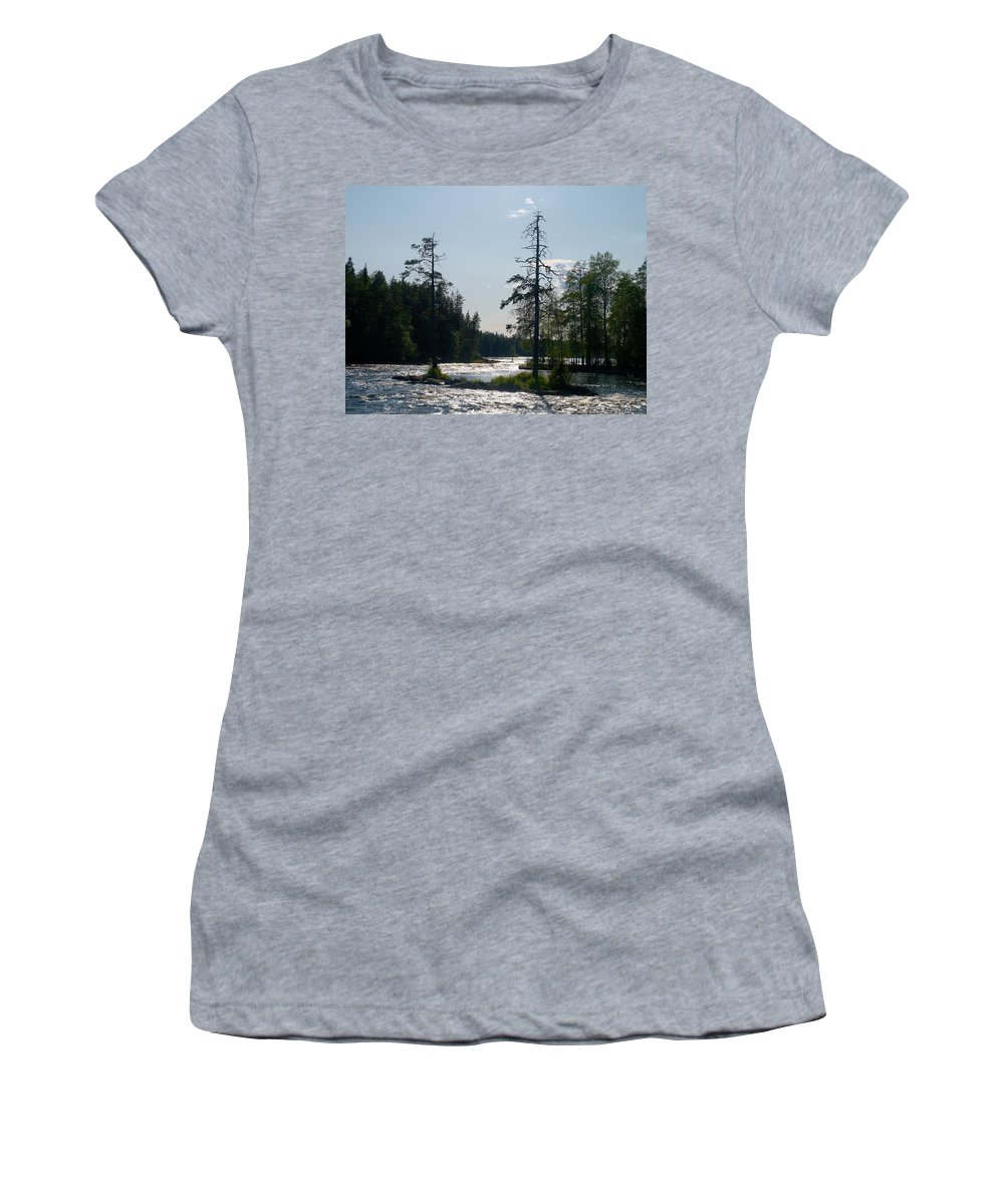 Lehtokukka Women's T-Shirt (Athletic Fit) featuring the photograph Ruunaankosket by Jouko Lehto
