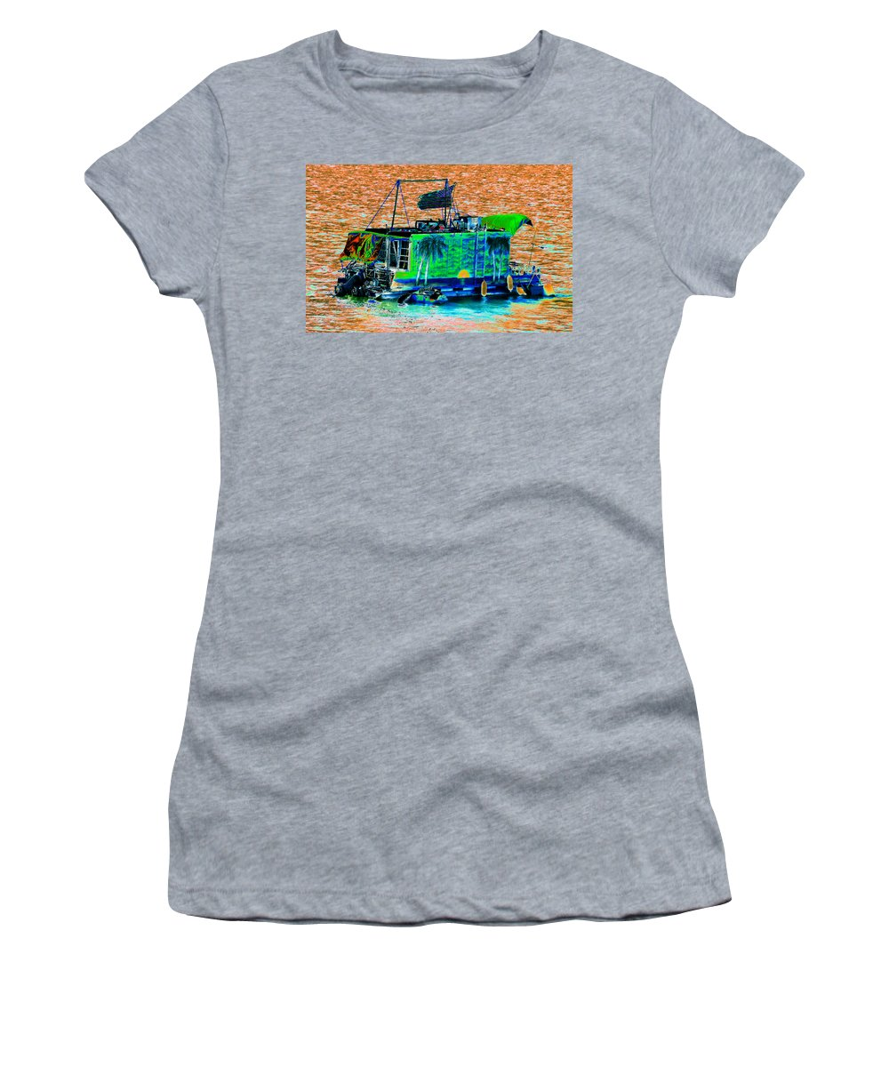 Art Women's T-Shirt (Athletic Fit) featuring the painting Salt Water Living by David Lee Thompson