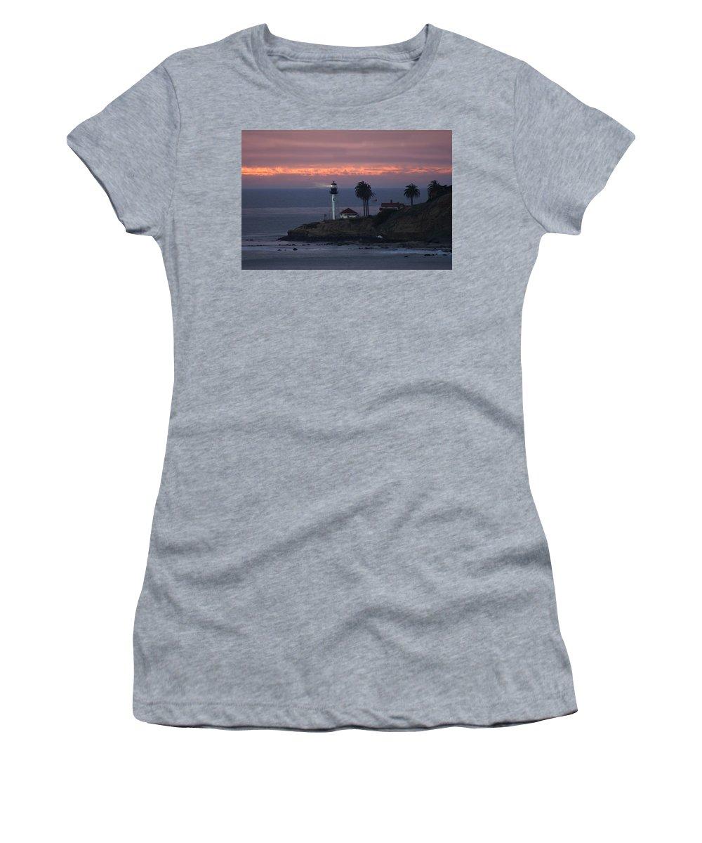 San Deigo Women's T-Shirt featuring the photograph San Diego Lighthouse by Heather Coen