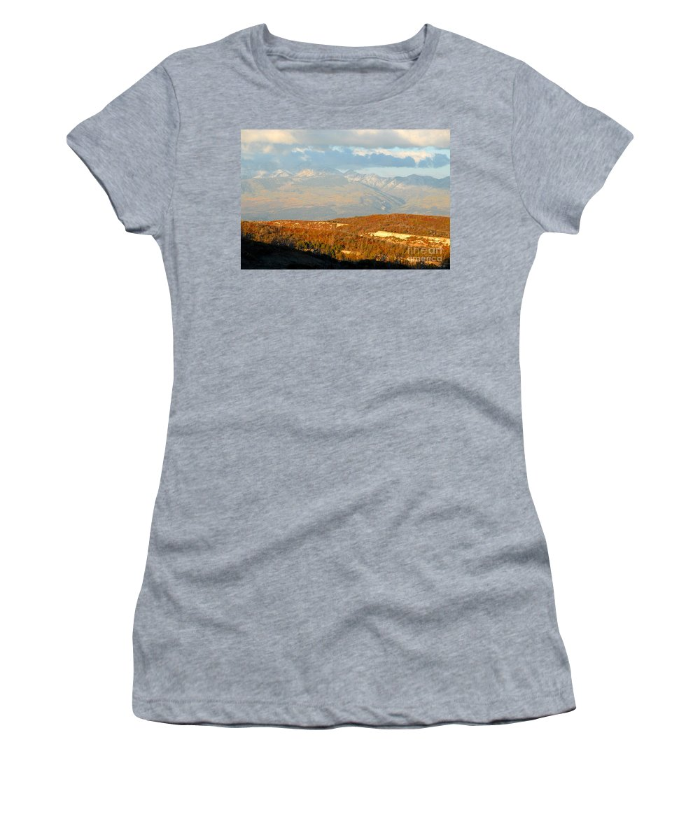 San Juan Mountains Colorado Women's T-Shirt featuring the photograph San Juan Mountains by David Lee Thompson