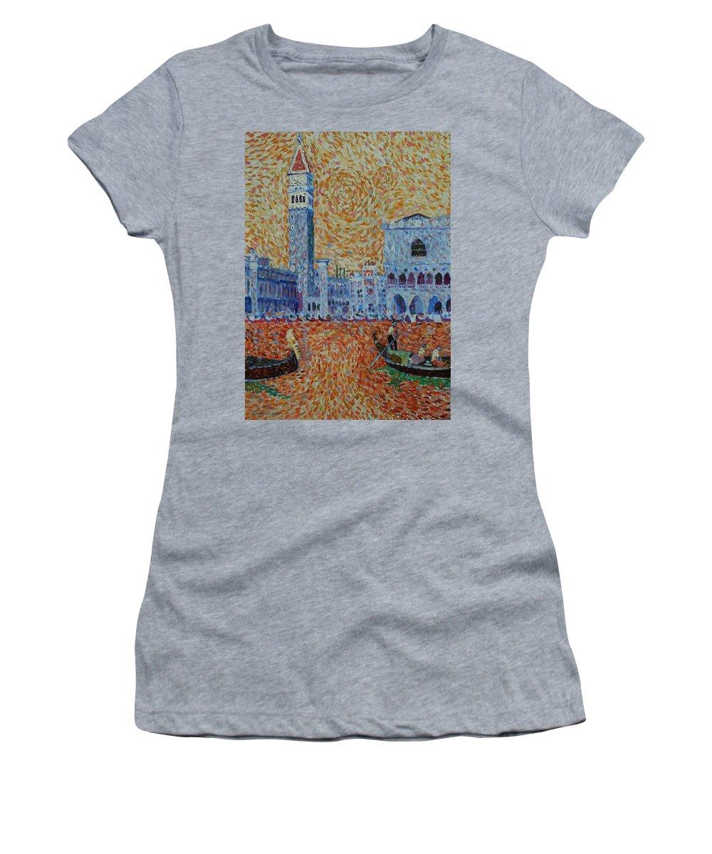 San Marco Women's T-Shirt featuring the painting San Marco by John A B Lansdown