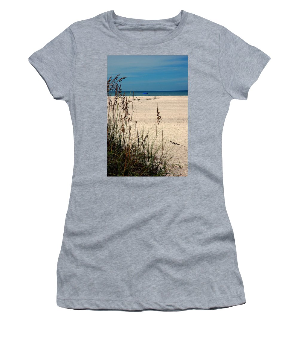 Sanibel Island Women's T-Shirt (Athletic Fit) featuring the photograph Sanibel Island Beach Fl by Susanne Van Hulst