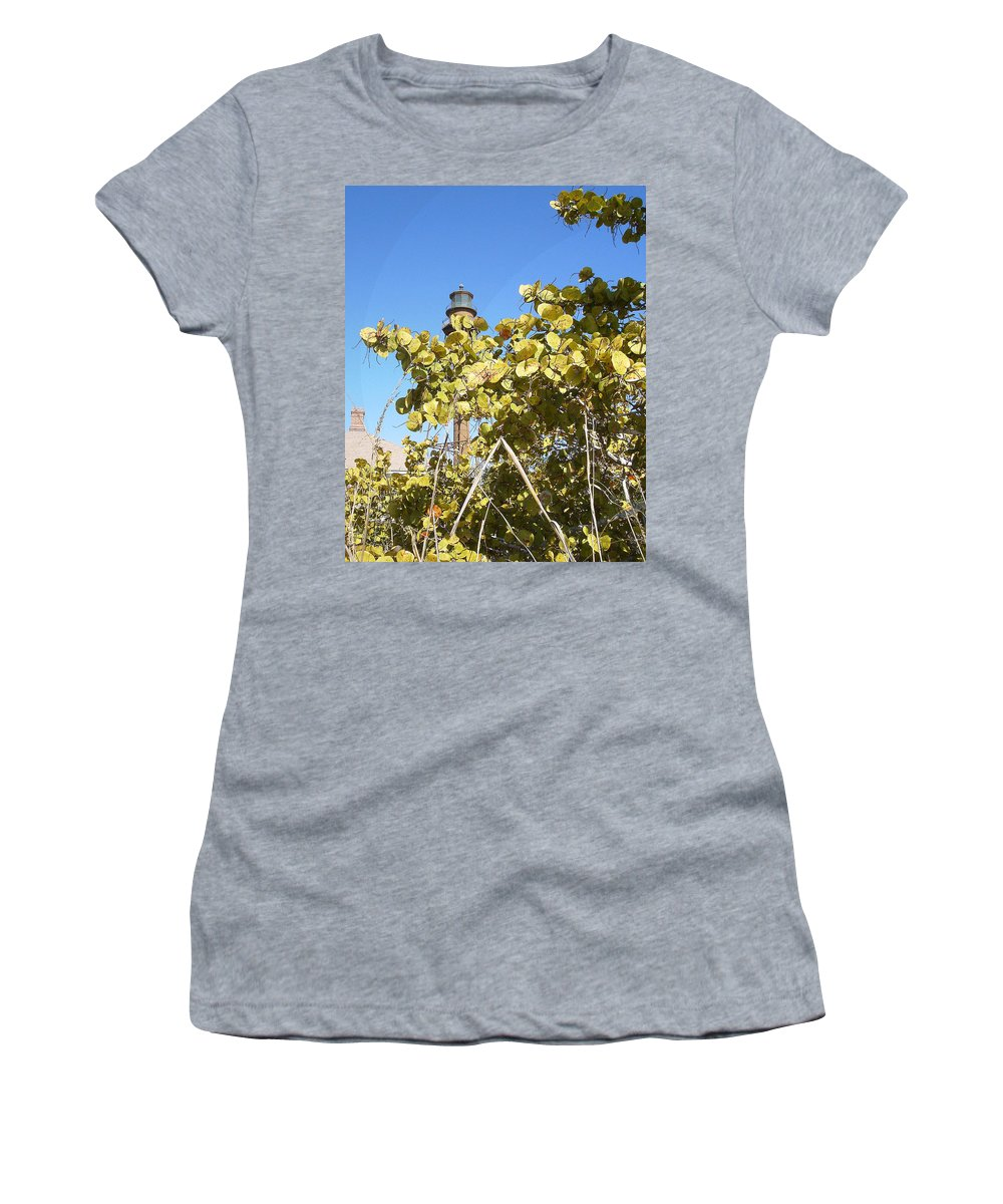 Florida Women's T-Shirt (Athletic Fit) featuring the photograph Sanibel Lighthouse by Chris Andruskiewicz