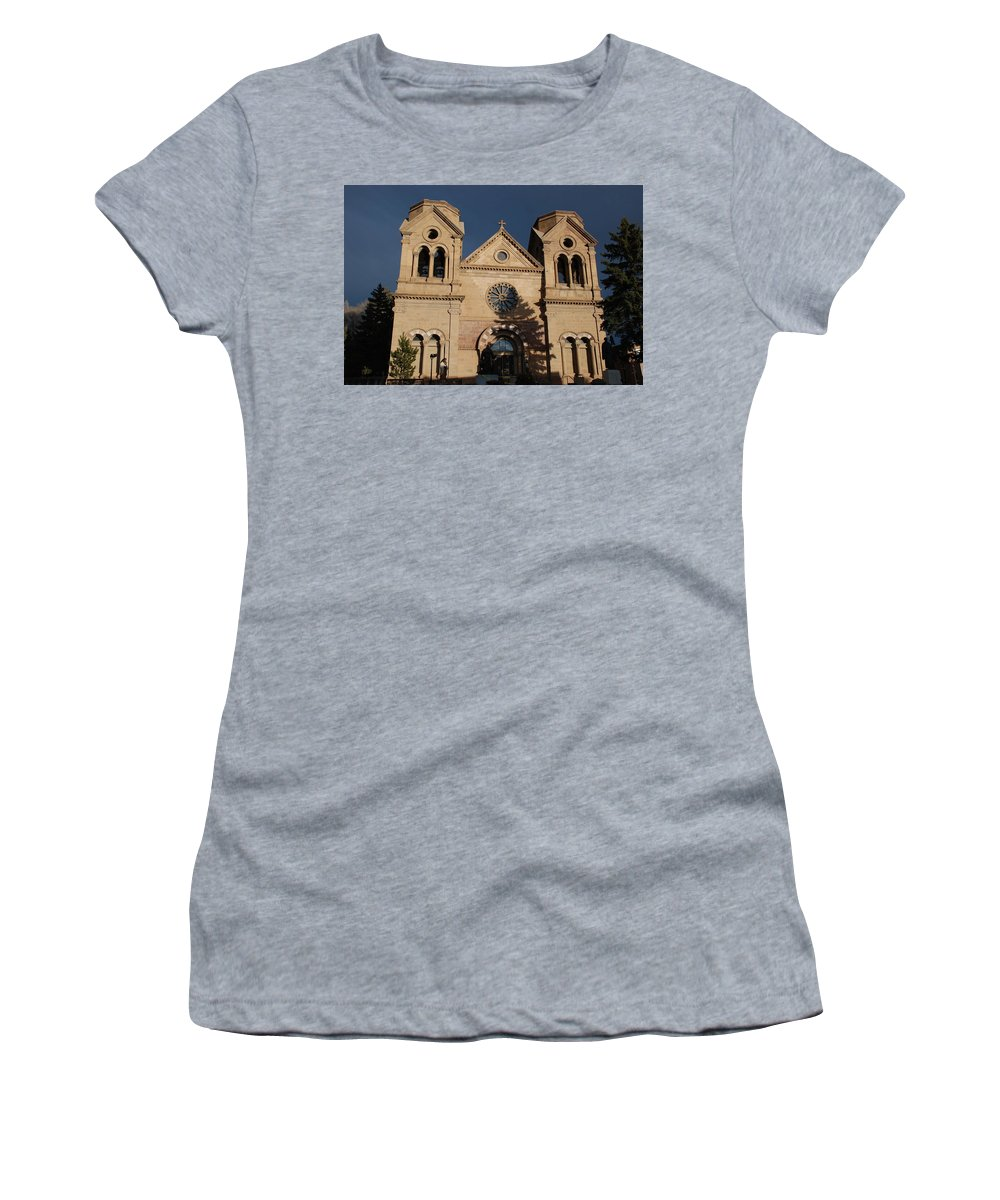Architecture Women's T-Shirt (Athletic Fit) featuring the photograph Santa Fe Church by Rob Hans