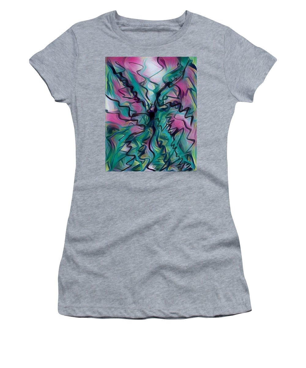 Digital Women's T-Shirt (Athletic Fit) featuring the digital art Scribbling Effect by Roy Hummel