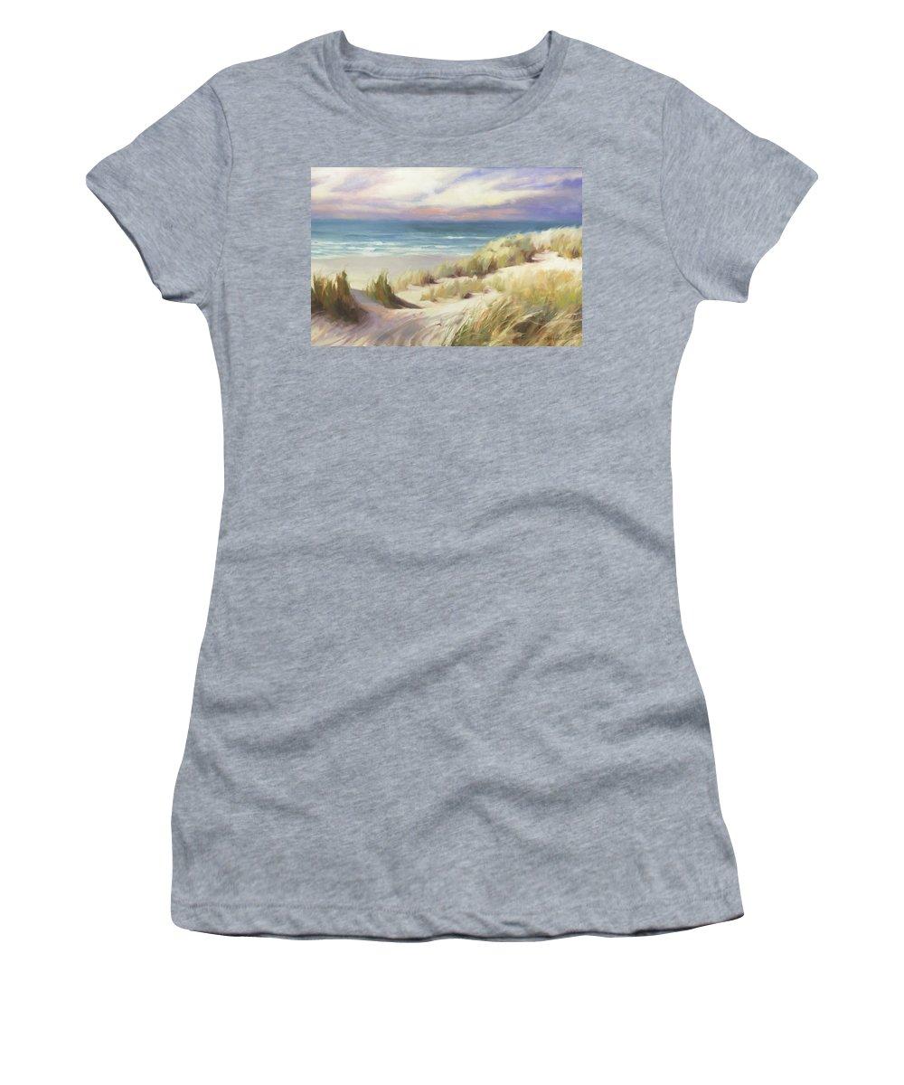 Ocean Women's T-Shirt featuring the painting Sea Breeze by Steve Henderson