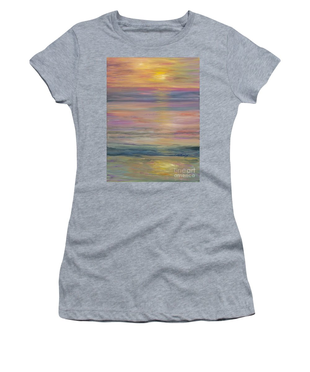 Sea Women's T-Shirt featuring the painting Seascape by Nadine Rippelmeyer