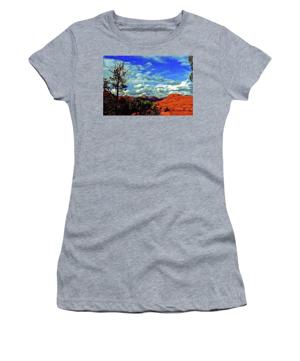 Arizona Women's T-Shirt featuring the photograph Sedona Capitol Butte by Gary Wonning