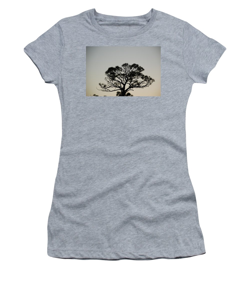 Tree Women's T-Shirt featuring the photograph Senset Trees by Rob Hans