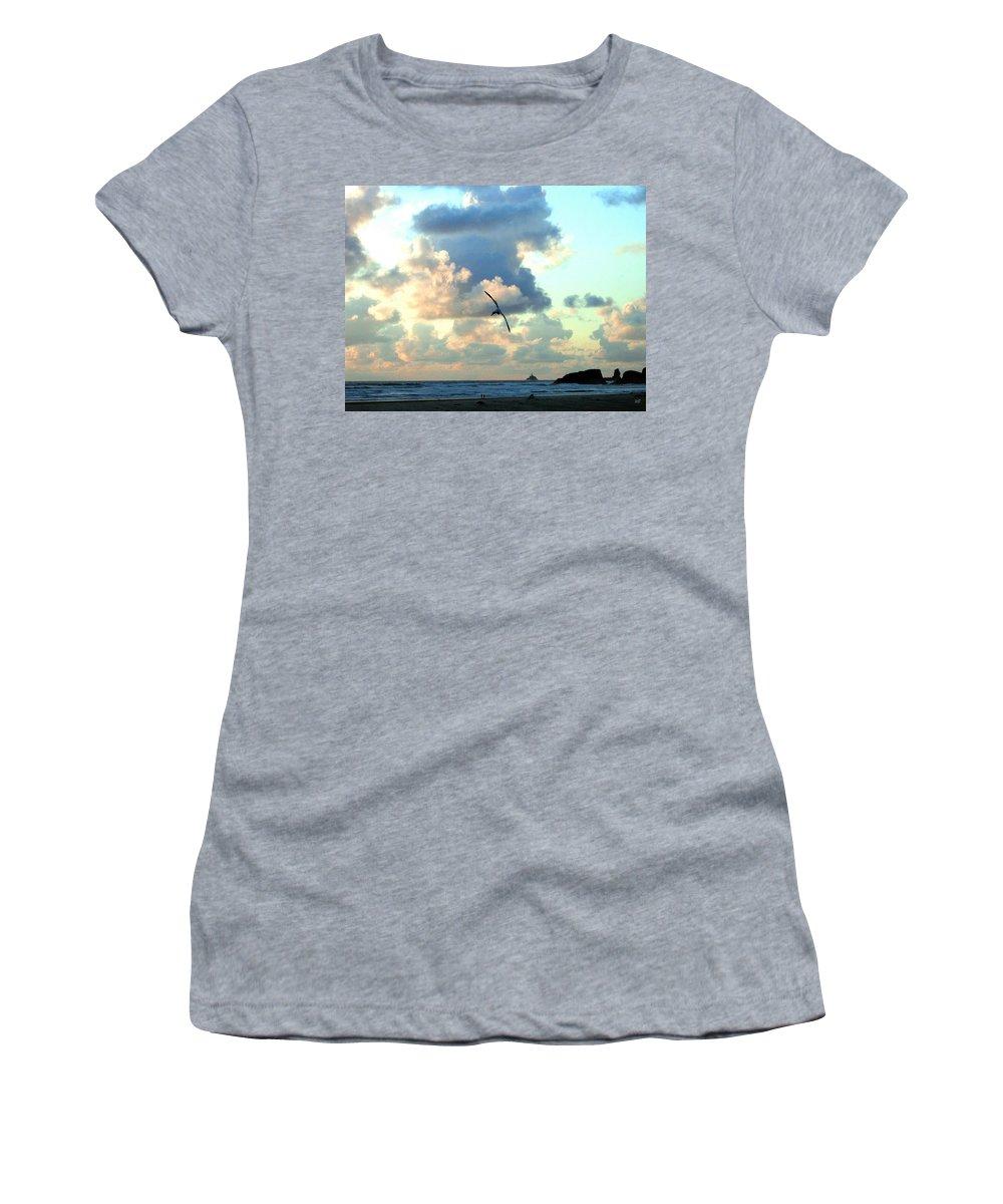 Sunset Women's T-Shirt featuring the photograph Serene Sunset by Will Borden