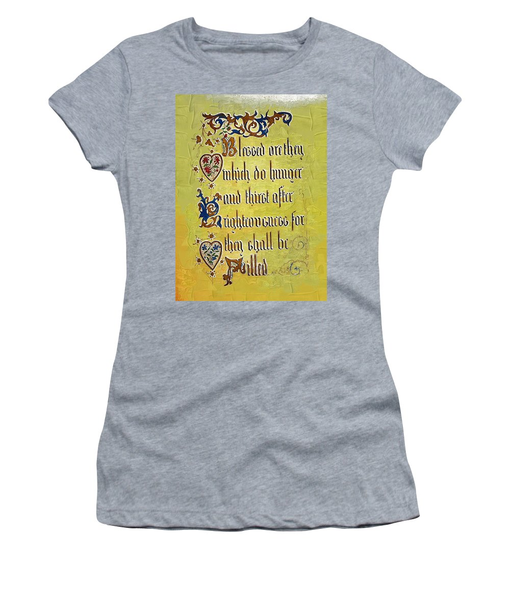 Religion Women's T-Shirt featuring the photograph Sermon8 by Donna Bentley