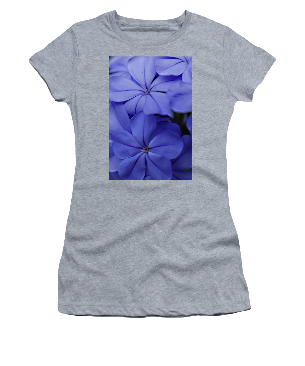 Plumbago Women's T-Shirt featuring the photograph Shades Of Blue by Bob Johnson