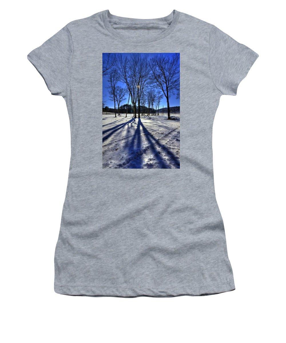 Evelina Kremsdorf Women's T-Shirt (Athletic Fit) featuring the photograph Shining Through by Evelina Kremsdorf