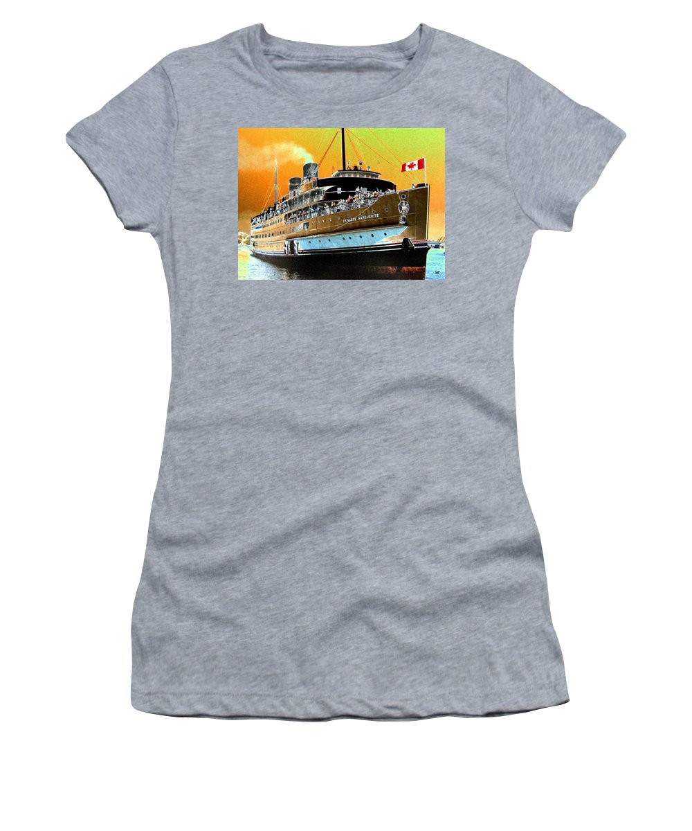 Princess Marguerite Women's T-Shirt featuring the digital art Shipshape 6 by Will Borden