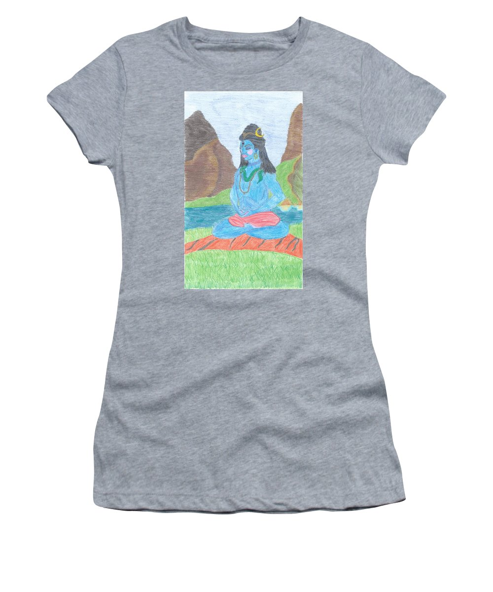 Women's T-Shirt featuring the drawing Shiva by Megan Crow