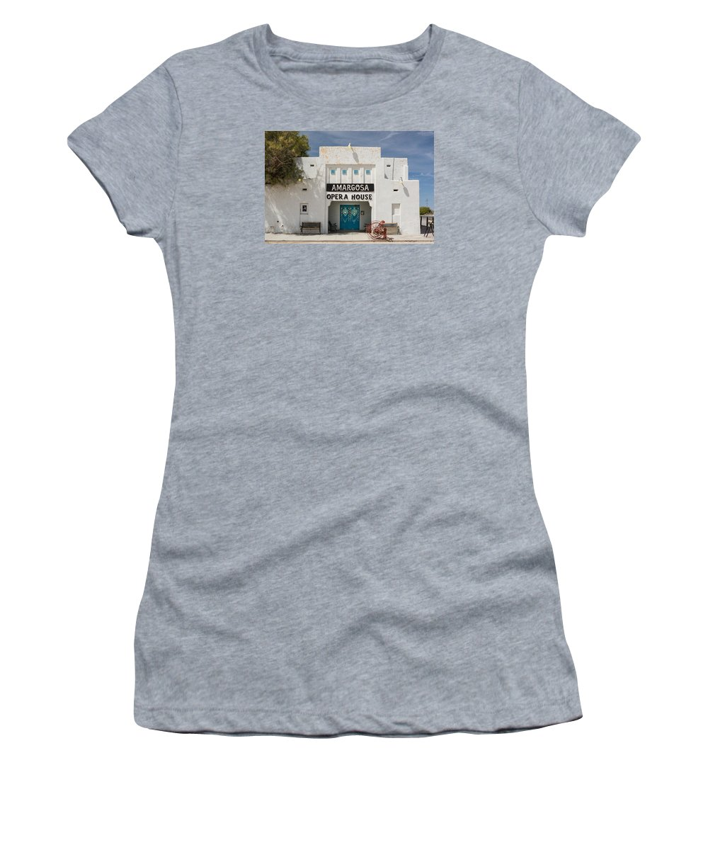 Amargosa Women's T-Shirt (Athletic Fit) featuring the photograph Show Tonight Amargosa Opera House by Steve Gadomski