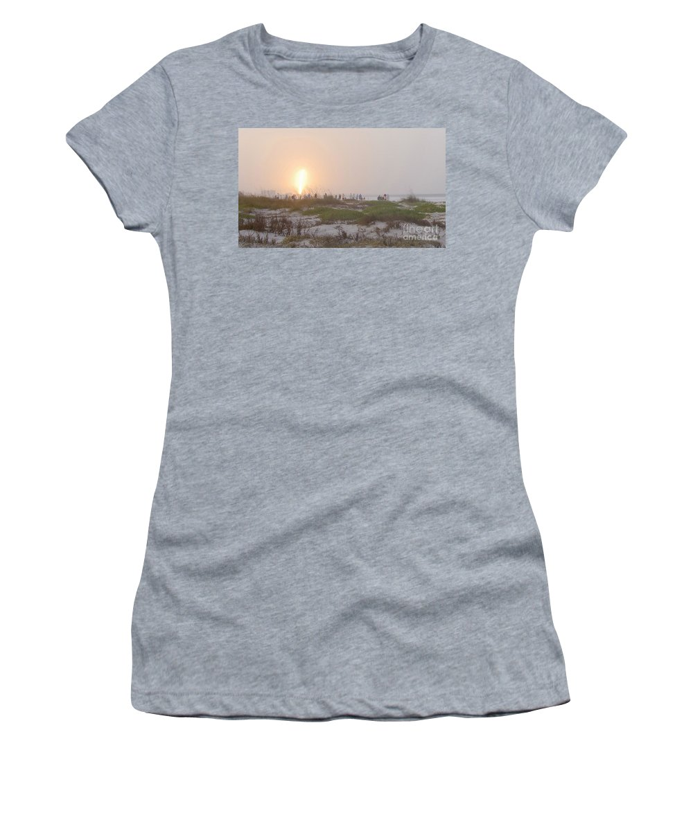 Shuttle Launch Women's T-Shirt (Athletic Fit) featuring the photograph Shuttle Launch by David Lee Thompson