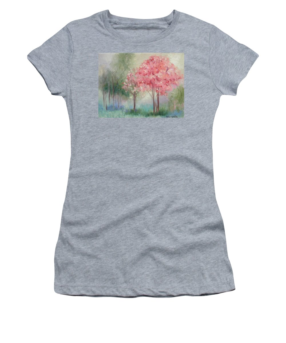 Spring Women's T-Shirt (Athletic Fit) featuring the painting Sign Of Spring by Ginger Concepcion