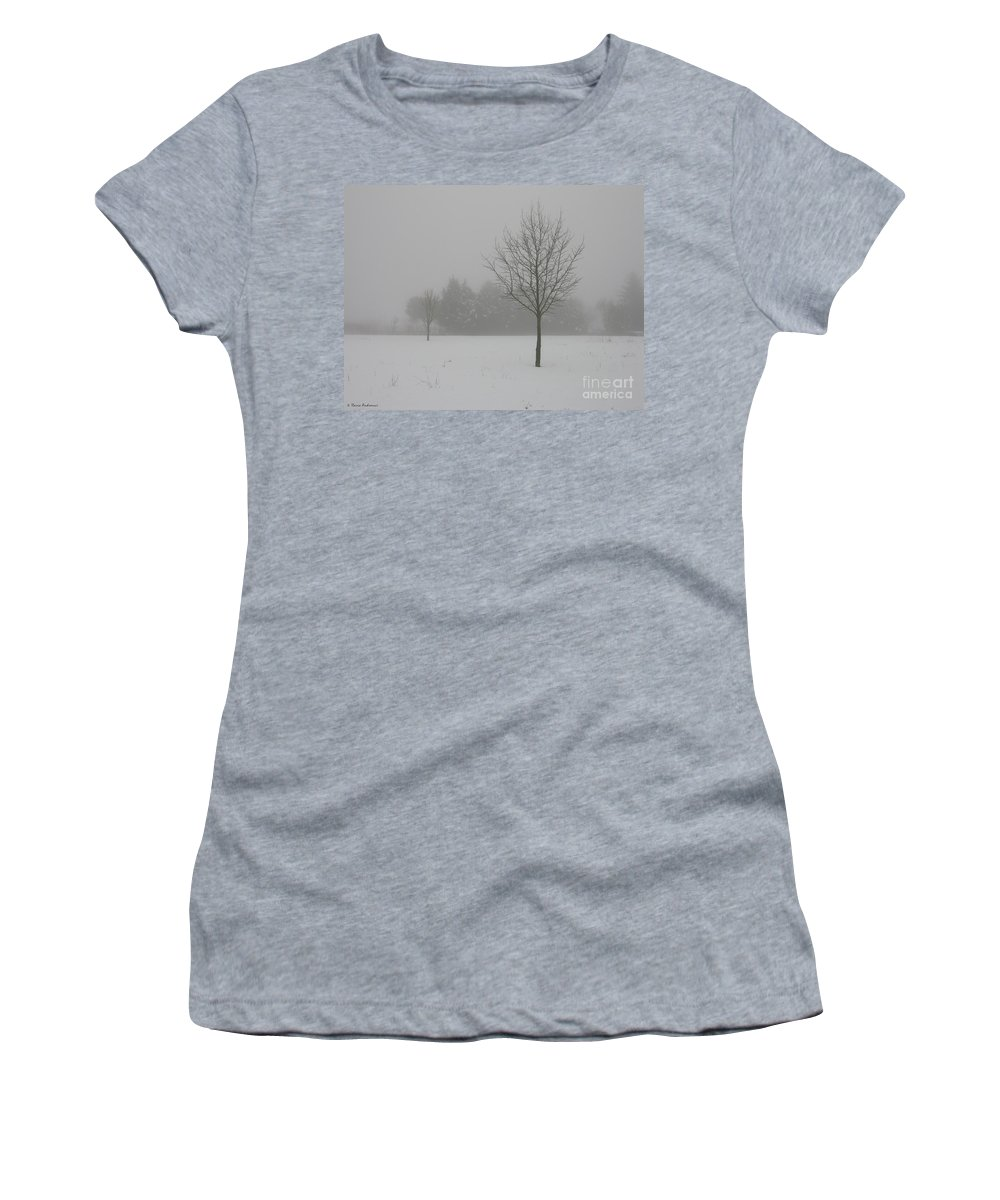 Tree Women's T-Shirt (Athletic Fit) featuring the photograph Silence by Ilaria Andreucci