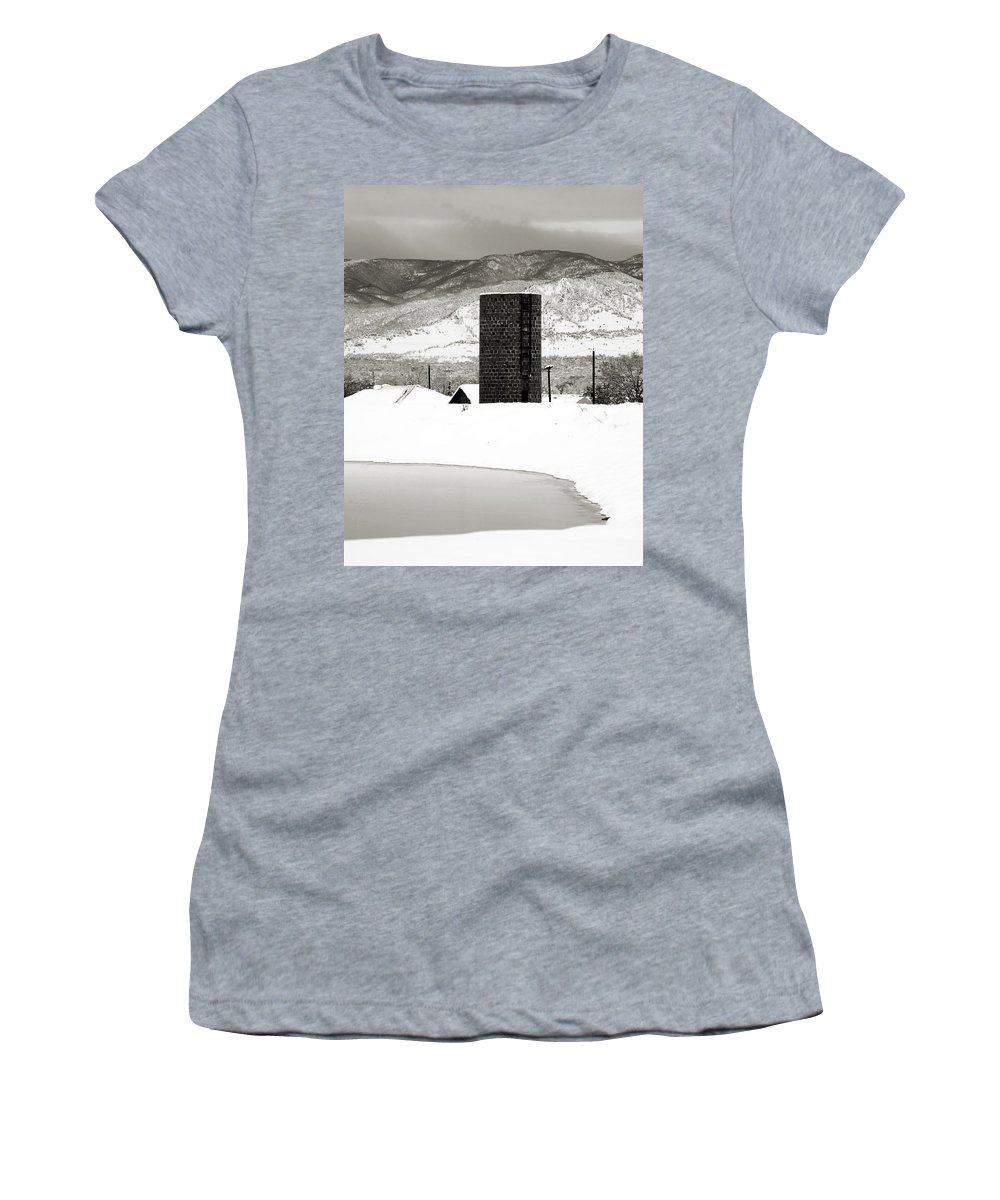 Colorado Women's T-Shirt (Athletic Fit) featuring the photograph Silo And Silence by Marilyn Hunt