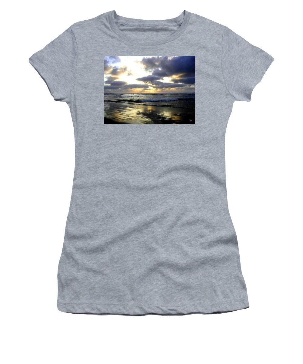 Sunset Women's T-Shirt (Athletic Fit) featuring the photograph Silver Shores by Will Borden
