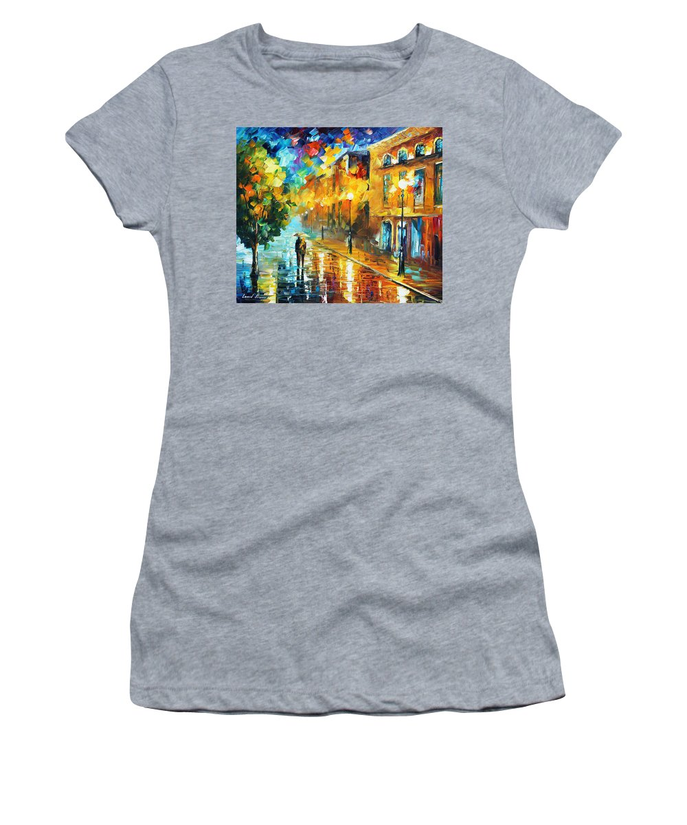 Afremov Women's T-Shirt (Athletic Fit) featuring the painting Simple Life by Leonid Afremov