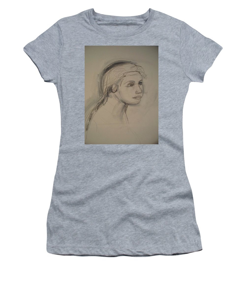 Sketch Women's T-Shirt (Athletic Fit) featuring the painting Sketch For Painting by Eric Schiabor