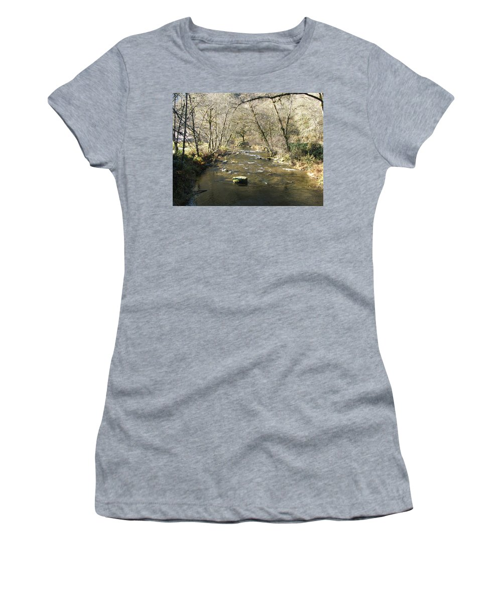 River Women's T-Shirt (Athletic Fit) featuring the photograph Sleepy Creek by Shari Chavira