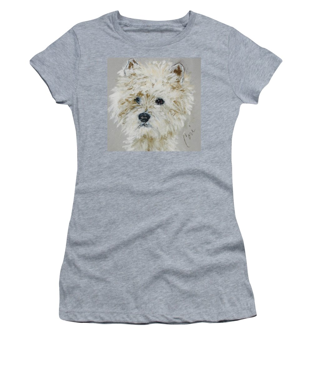 Westy Women's T-Shirt (Athletic Fit) featuring the drawing Small Wonders by Cori Solomon