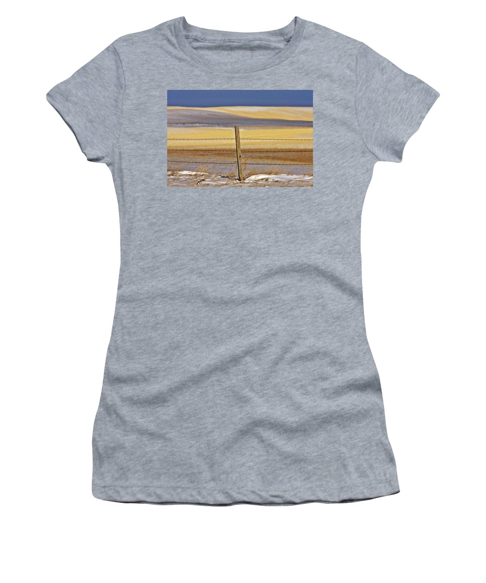 Prairie Women's T-Shirt featuring the digital art Snow Hills Saskatchewan by Mark Duffy