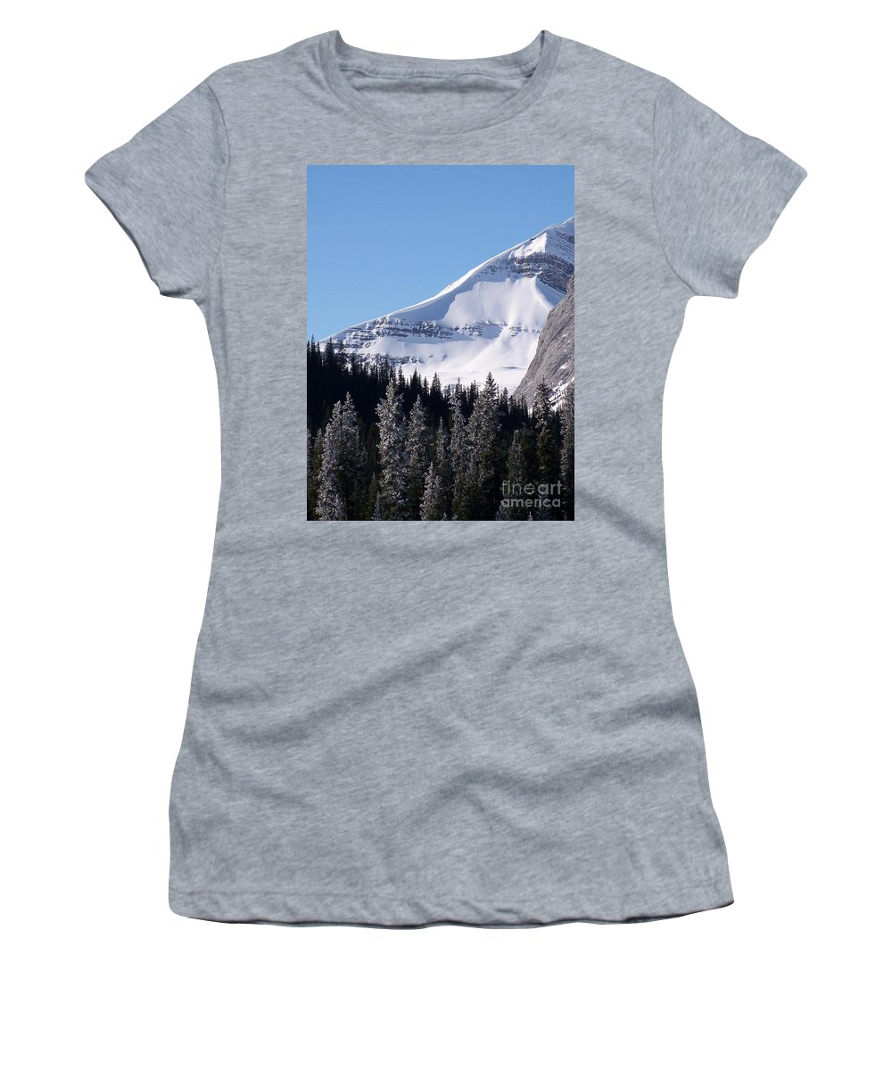 Scenic Women's T-Shirt (Athletic Fit) featuring the photograph Snow Ledge by Greg Hammond