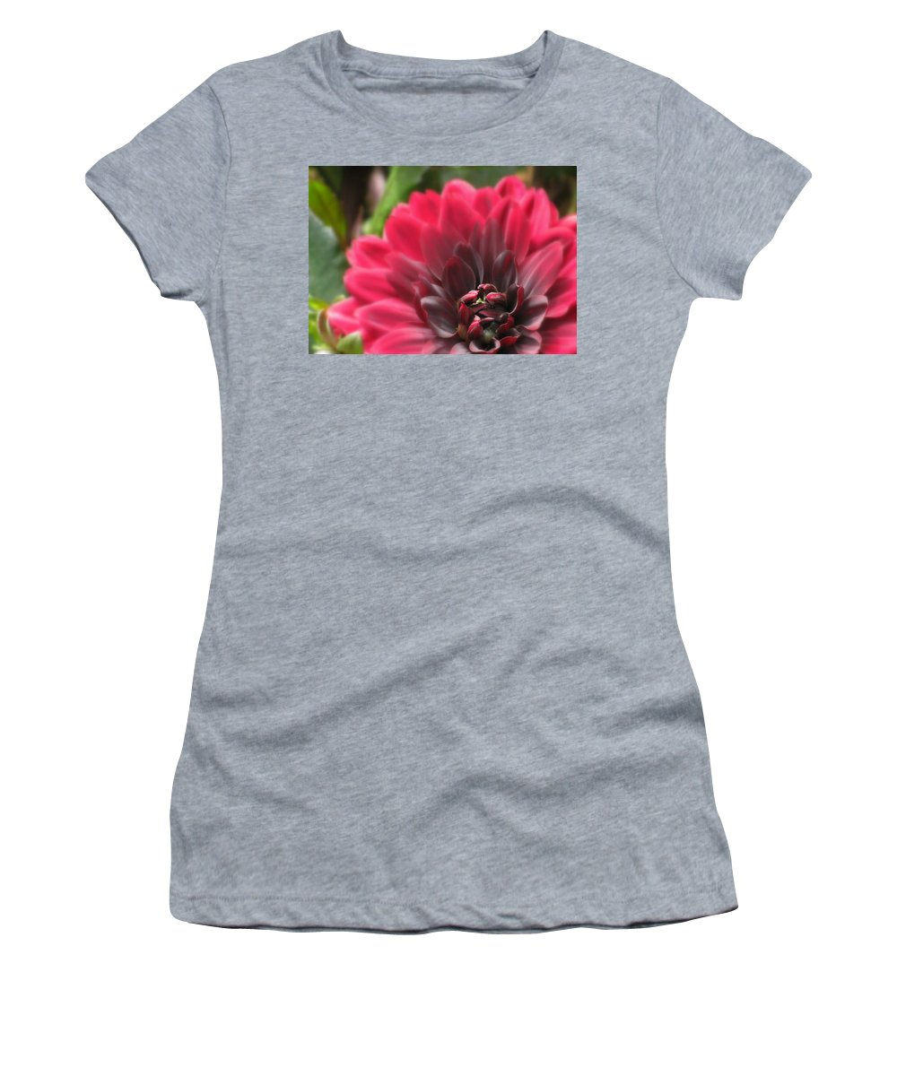 Flowers Women's T-Shirt (Athletic Fit) featuring the photograph Soft Whisper by Deborah Crew-Johnson