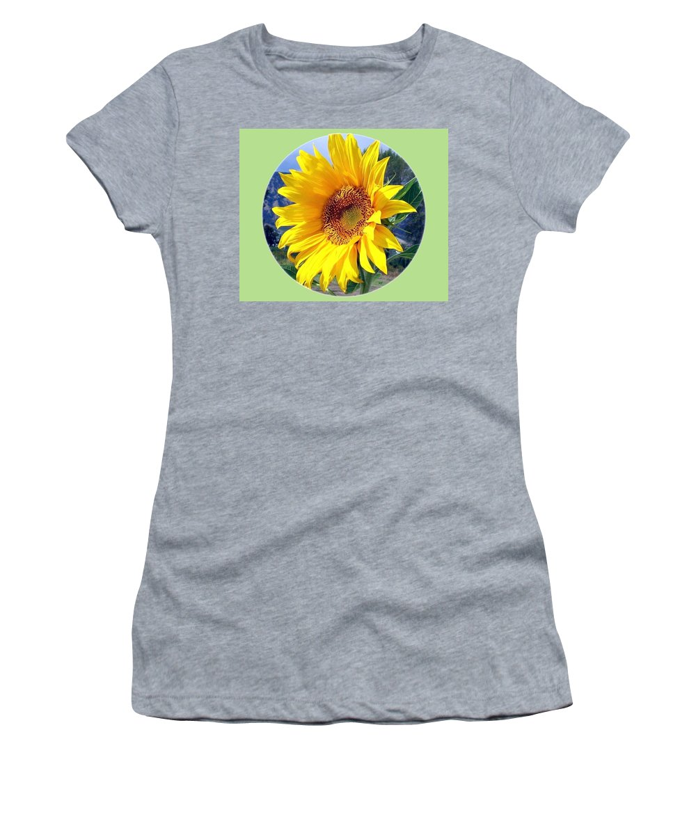 Sunflower Women's T-Shirt featuring the photograph Solid Sunshine by Will Borden