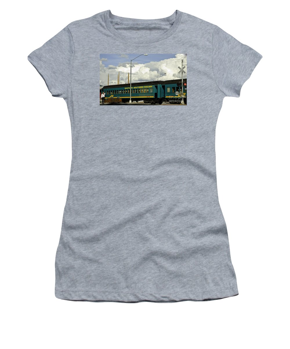 Rail Women's T-Shirt (Athletic Fit) featuring the photograph Southern Railway by Madeline Ellis
