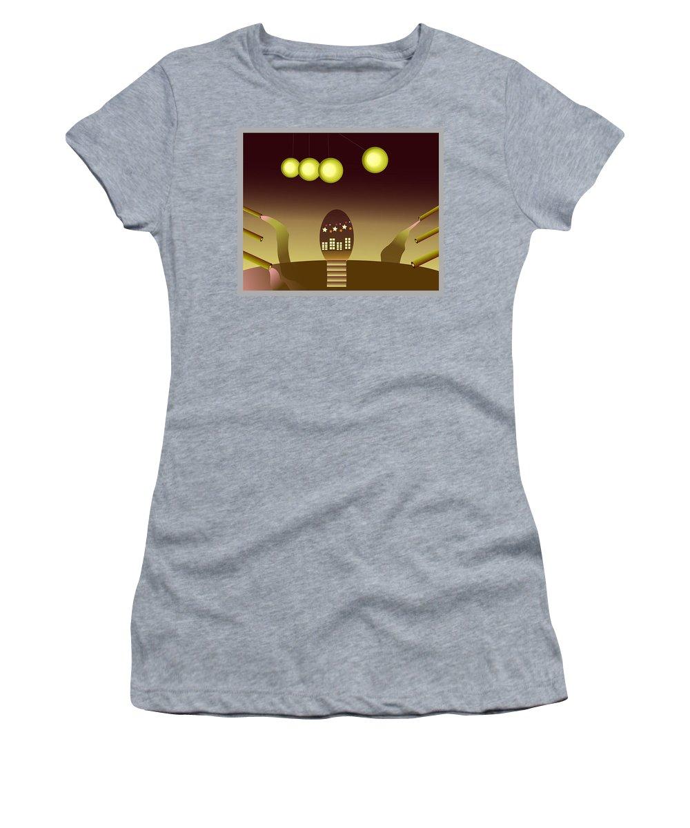 Space Women's T-Shirt featuring the digital art Space Door by Michael Jones