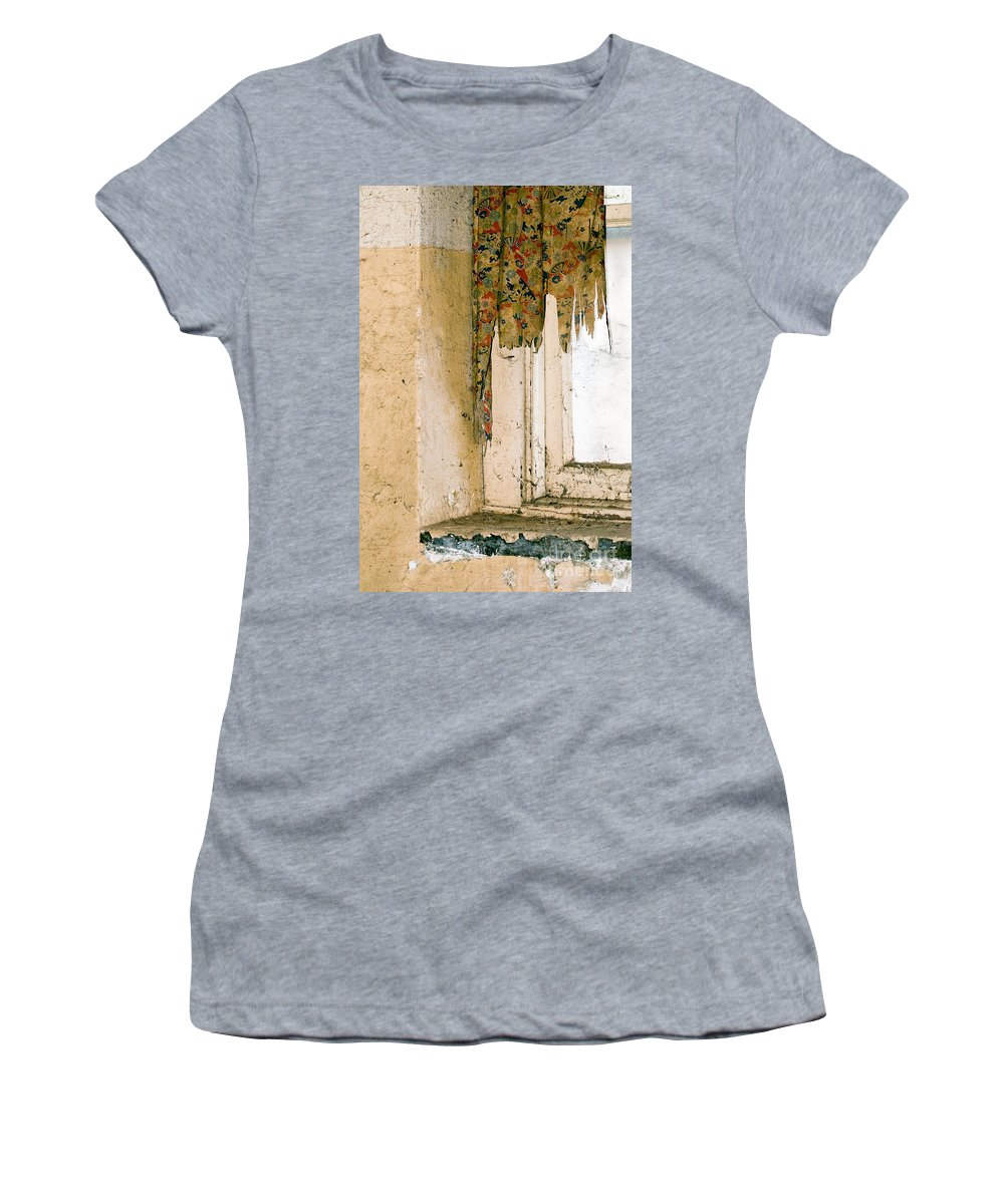 California History Women's T-Shirt (Athletic Fit) featuring the photograph Spider Window by Norman Andrus