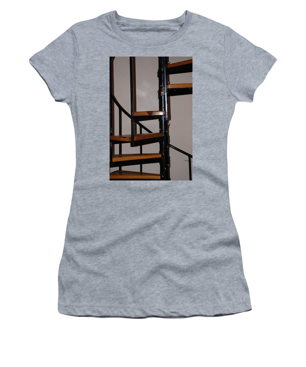 Stairs Women's T-Shirt (Athletic Fit) featuring the photograph Spiral Stairs by Rob Hans